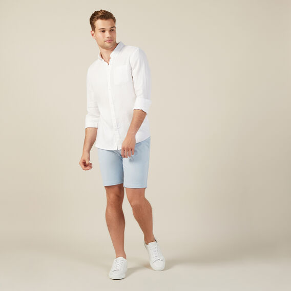 SLIM FIT CHINO SHORT  PALE BLUE  hi-res