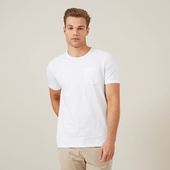 SNOW WASH SLUB T-SHIRT  WHITE  hi-res