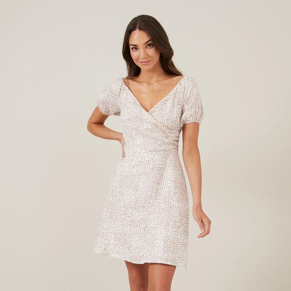 FLORAL MINI DRESS  WHITE  hi-res