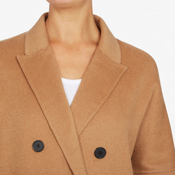 DOUBLE BREASTED LONGLINE COAT  CAMEL  hi-res