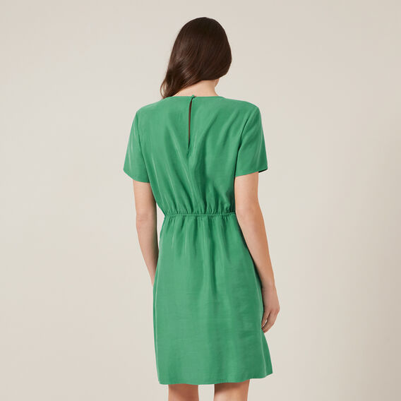 TIE FRONT MINI DRESS  SPRING GREEN  hi-res