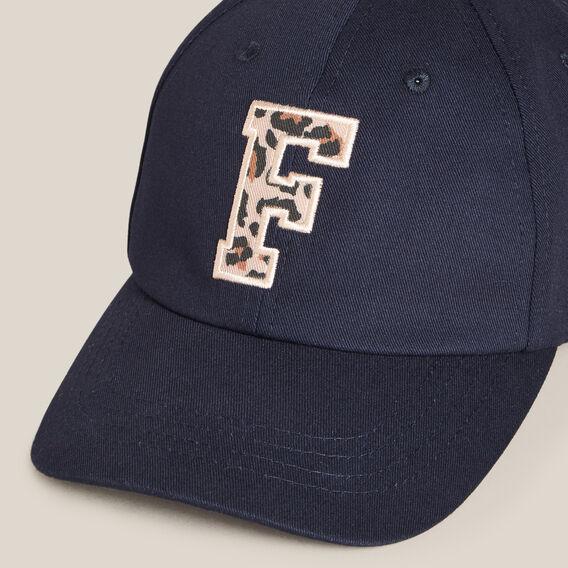 TONAL 'F' EMBROIDERED CAP  BLUSH/NAVY  hi-res