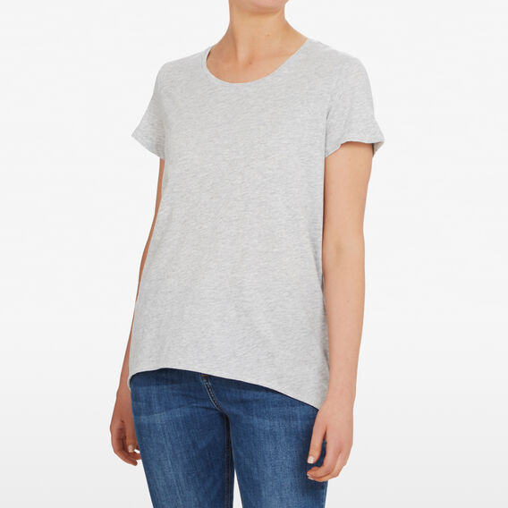 HI LOW HEM TEE  GREY MARLE  hi-res