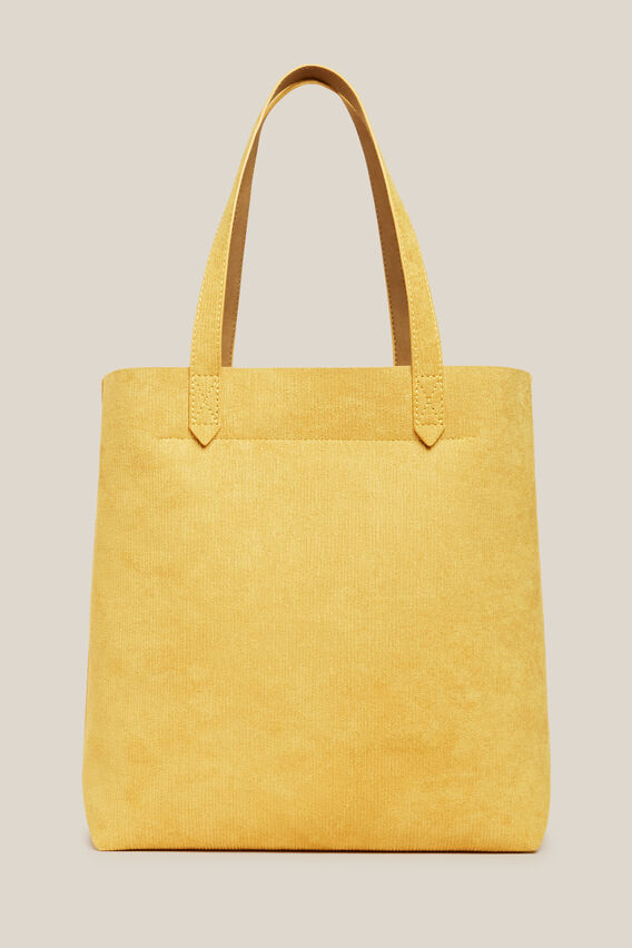 TEXTURED TOTE BAG   YELLOW  hi-res