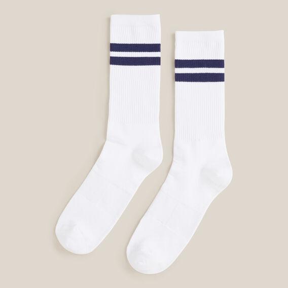 RETRO STRIPE 1PK SOCKS  WHITE  hi-res