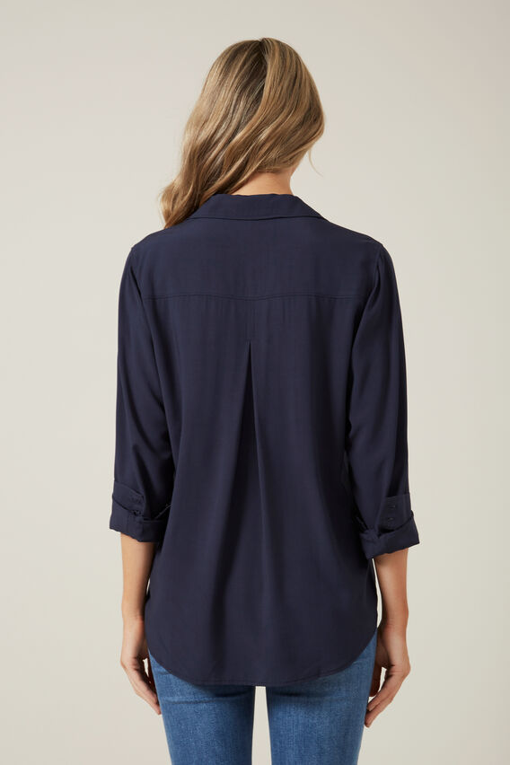 SOFT ESSENTIAL SHIRT  NAVY  hi-res