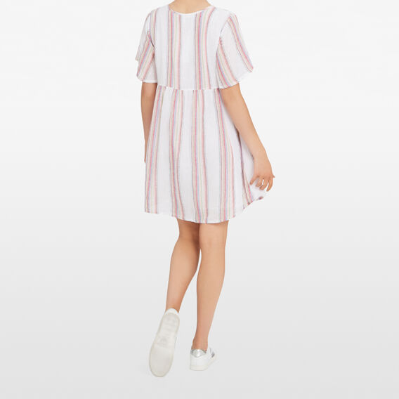 BABYDOLL STRIPE DRESS  MULTI  hi-res