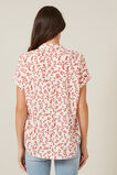 WASHED FLORAL S/S SHIRT  RED/OFF WHITE  hi-res