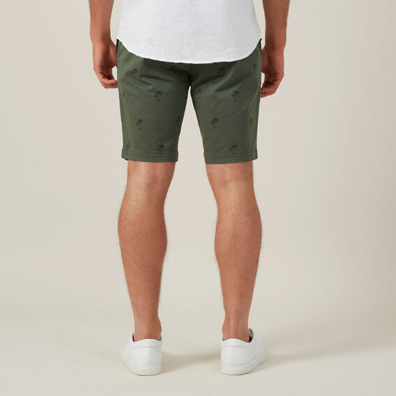 PALM TREE CHINO SHORT  KHAKI  hi-res