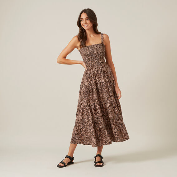 ANIMAL TIERED MAXI DRESS  ANIMAL  hi-res