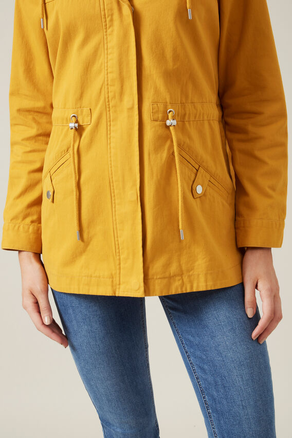 LIGHTWEIGHT UTILITY PARKA  WASHED YELLOW  hi-res