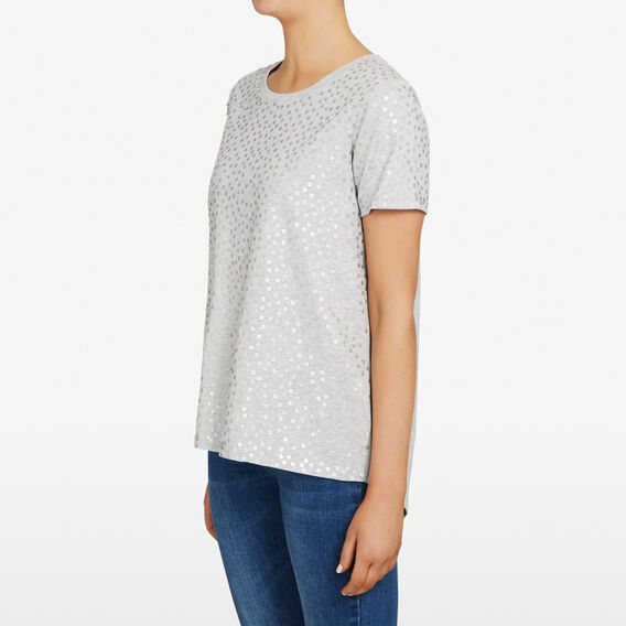 ALL SEQUINS TEE  GREY MARLE/SILVER  hi-res
