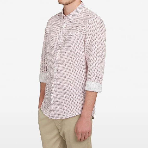 LINEN CLASSIC FIT SHIRT  MINI FLAMINGO  hi-res