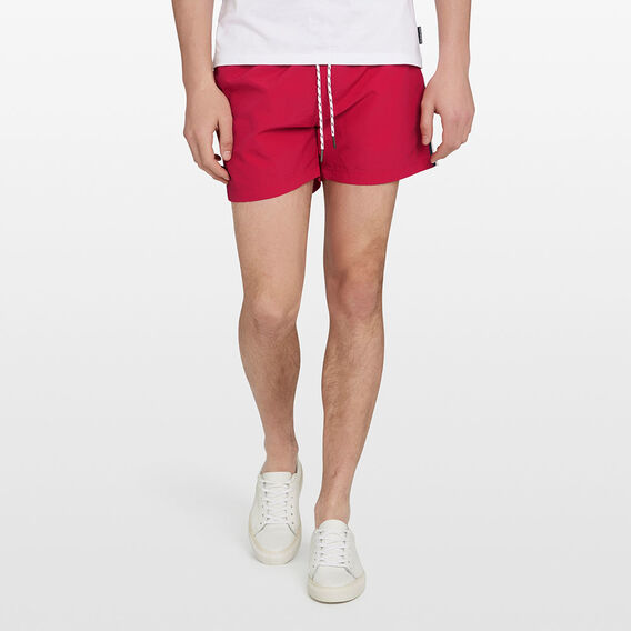 SIDE STRIPE SWIM SHORT  RED  hi-res