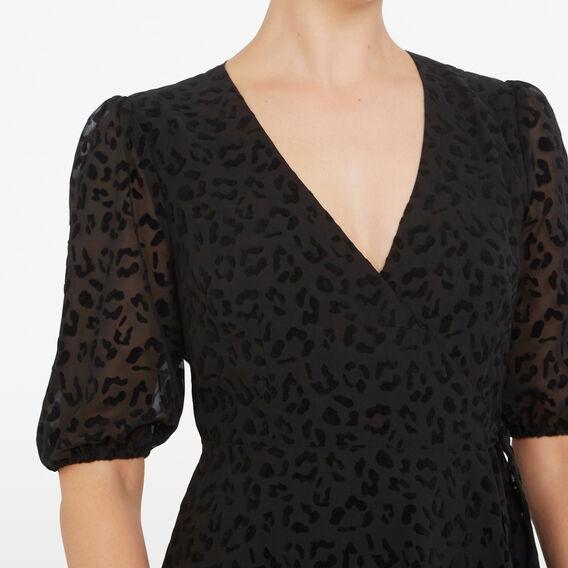 ANIMAL VELVET DRESS  BLACK  hi-res
