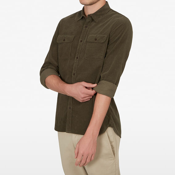 CORD CLASSIC FIT SHIRT  KHAKI  hi-res