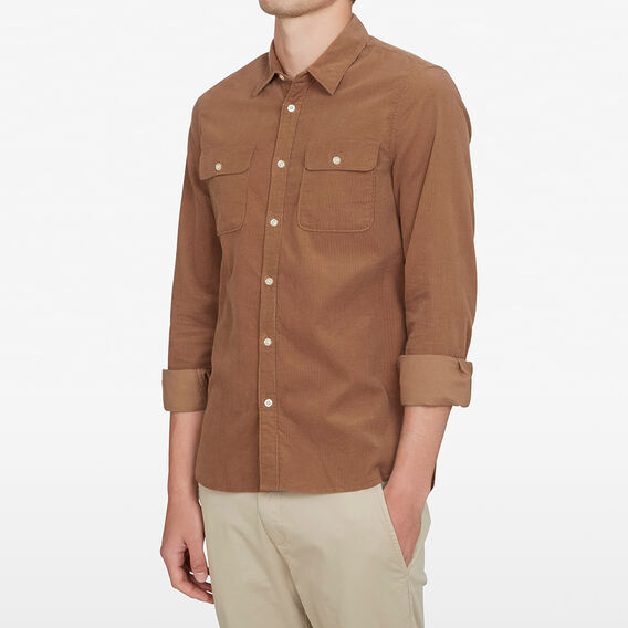 CORD CLASSIC FIT SHIRT  CAMEL  hi-res