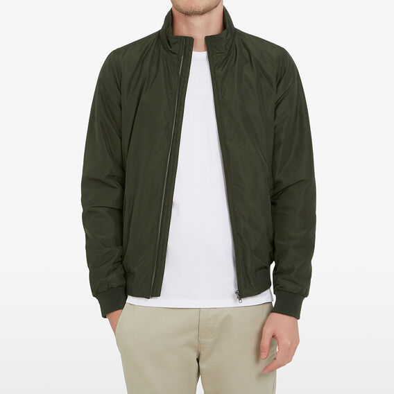 LINED WINDBREAKER  OLIVE  hi-res