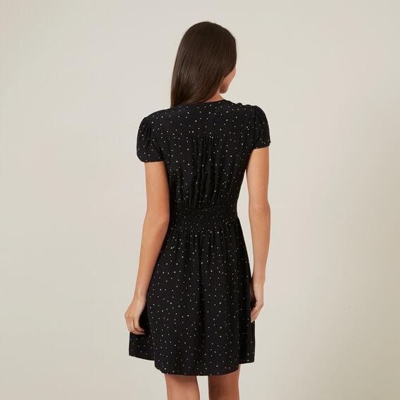 SPOT MINI DRESS  BLACK  hi-res