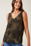 V-NECK CAMI  KHAKI ANIMAL  hi-res