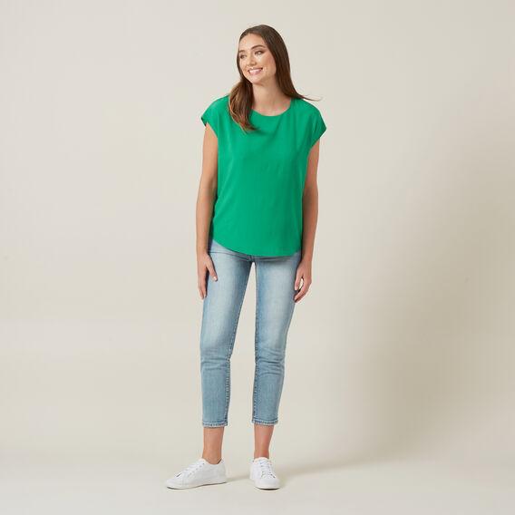 SHELL TOP  GREEN  hi-res