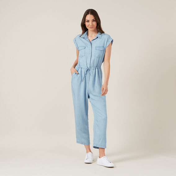 CHAMBRAY JUMPSUIT  CHAMBRAY  hi-res