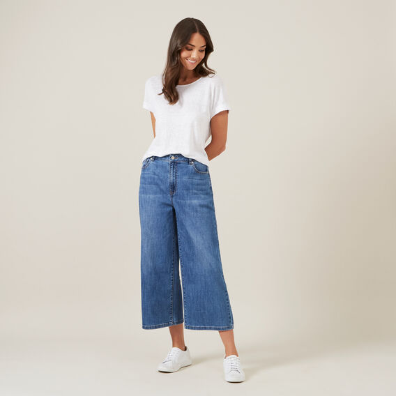 WIDE LEG JEAN  BLUE  hi-res