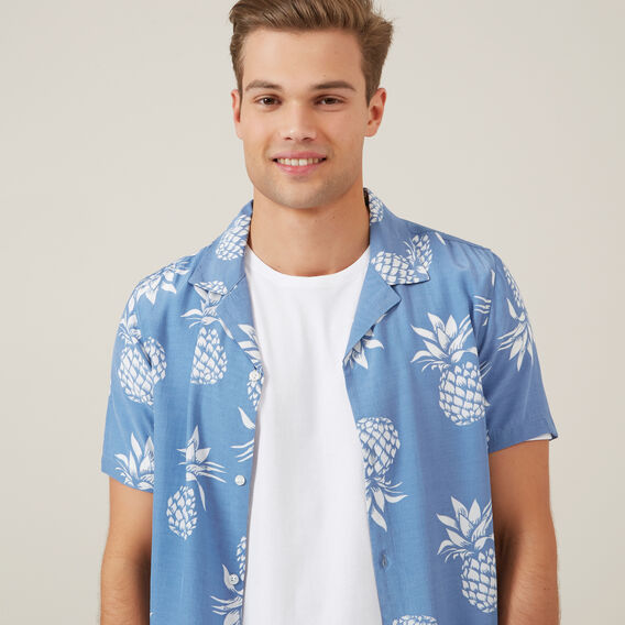 LARGE PINEAPPLE CLASSIC FIT SHIRT  DUSK BLUE  hi-res
