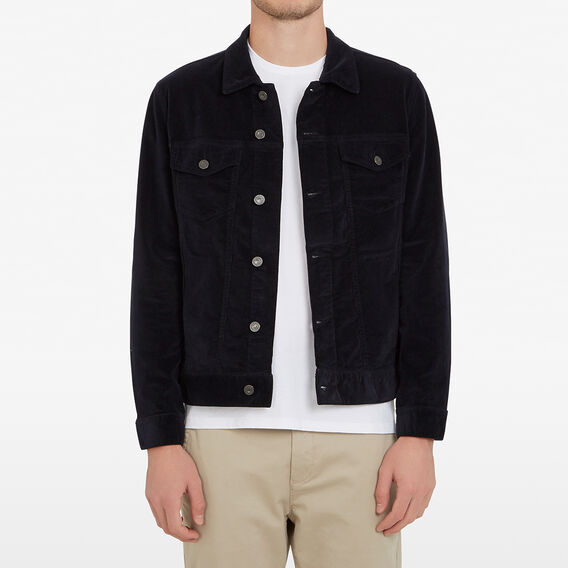 CORD TRUCKER JACKET  MARINE BLUE  hi-res