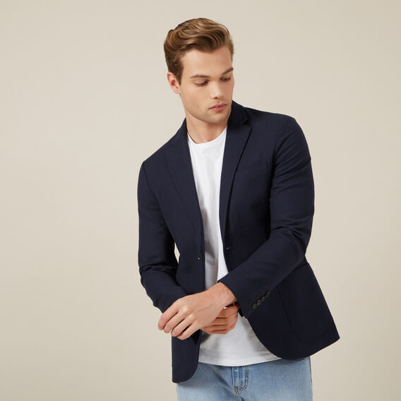 COTTON BLAZER  MARINE BLUE  hi-res