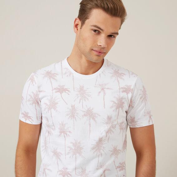 LARGE PALM TREE T-SHIRT  WHITE  hi-res