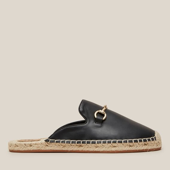 BUCKLE DETAIL ESPADRILLE  BLACK  hi-res