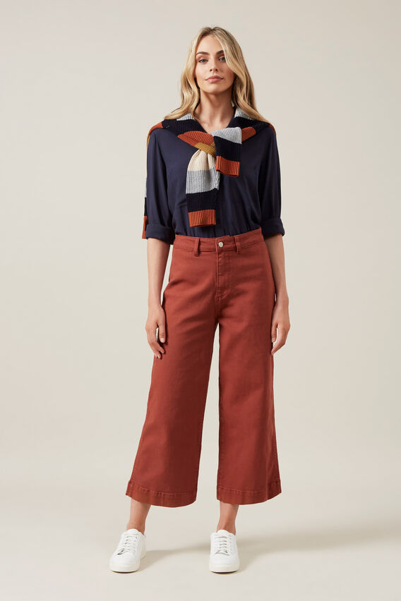 WIDE LEG PANT  RUST  hi-res
