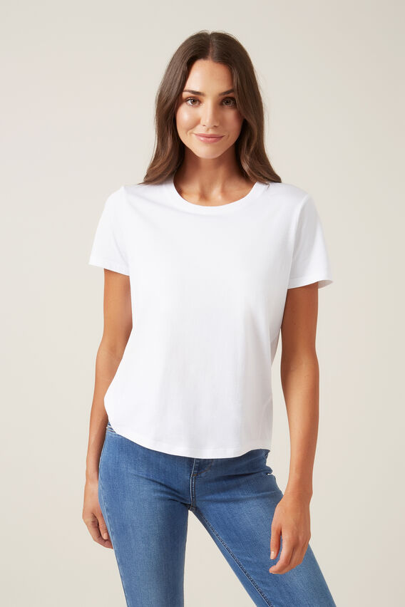 RELAXED T-SHIRT  WHITE  hi-res