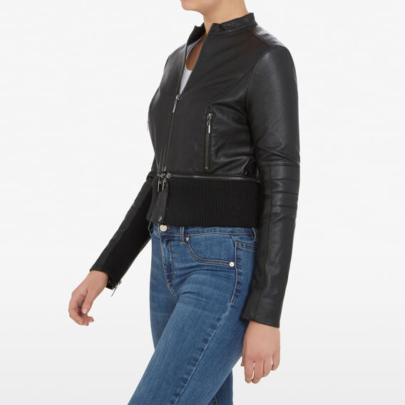 SANDRA PU JACKET  BLACK  hi-res