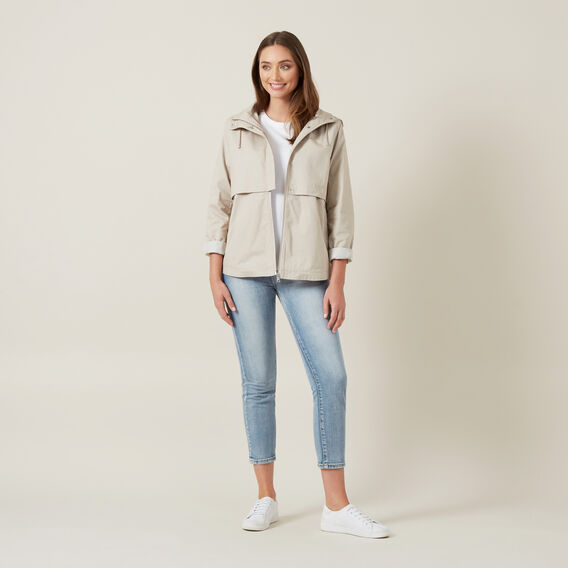 COTTON ANORAK  NATURAL  hi-res