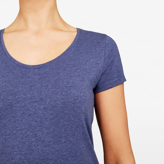 HAYLEY STRETCH SCOOP NECK TEE  NAVY  hi-res