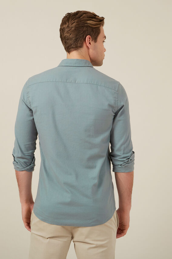 SAGE OXFORD L/S CUSTOM FIT SHIRT  SAGE  hi-res