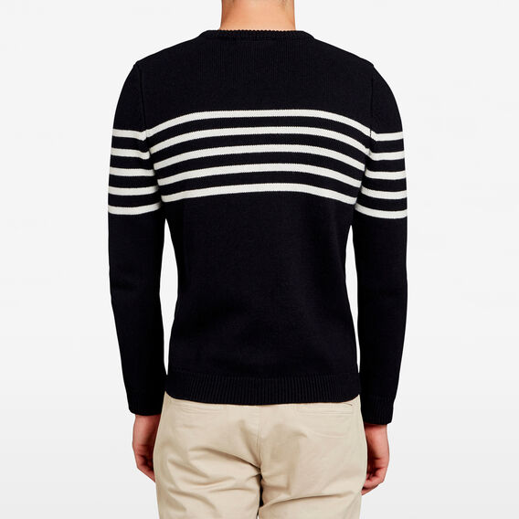 PANEL STRIPE KNIT  BLACK  hi-res
