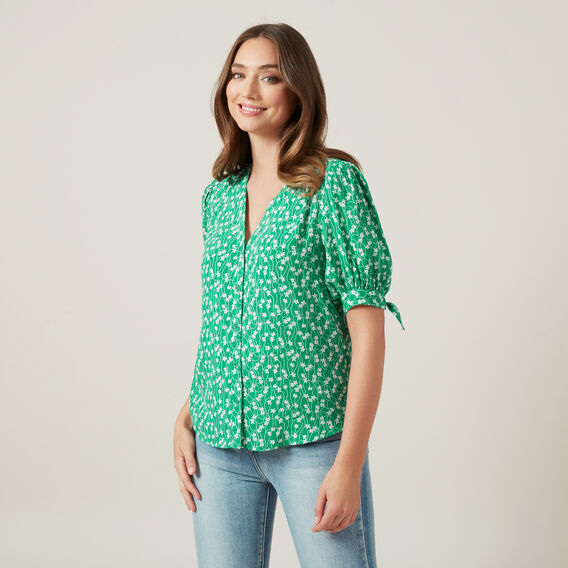 FLORAL FULL SLEEVE SHIRT  GREEN/MULTI  hi-res