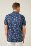 MONKEY LEAF REGULAR FIT SHIRT  MARINE BLUE  hi-res