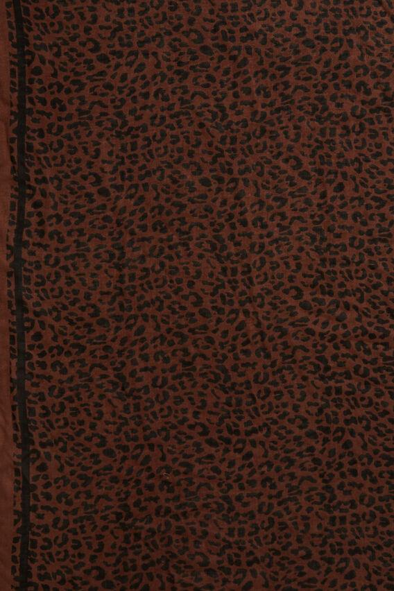 ANIMAL SCARF  BROWN/BLACK  hi-res