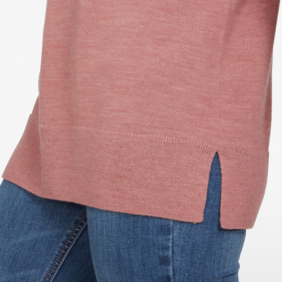 CREW NECK WOOL BLEND KNIT  ROSE PINK  hi-res