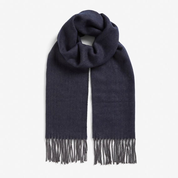 HERRINGBONE SCARF  NAVY/CHARCOAL  hi-res