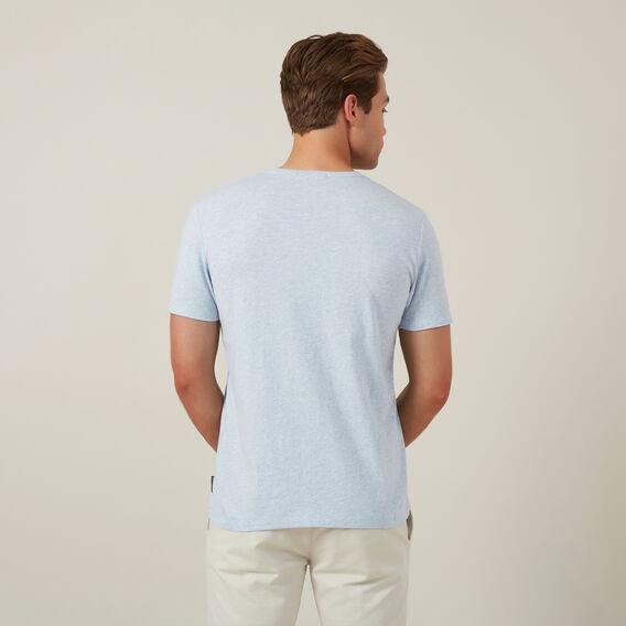 CLASSIC V NECK T-SHIRT  PALE BLUE MARL  hi-res