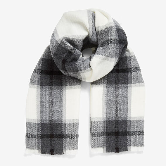 LARGE MONO CHECK SCARF  BLACK/WHITE  hi-res