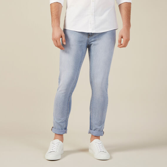 LIGHT WASH SLIM STRETCH JEAN  LIGHT WASH  hi-res