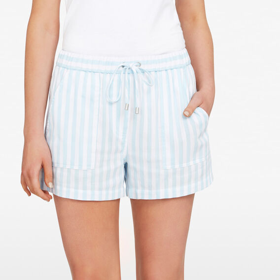 STRIPE RELAXED SHORT  SEABLUE/SUMMER WHITE  hi-res