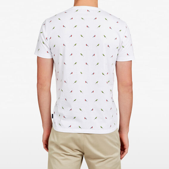 ALL OVER BIRD T-SHIRT  WHITE  hi-res