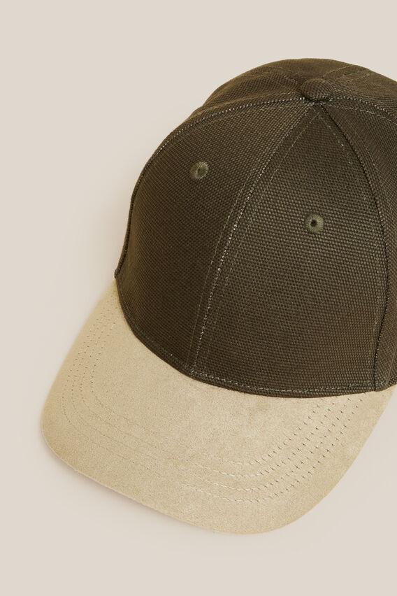 TWO TONE CAP  KHAKI/TOBACCO  hi-res